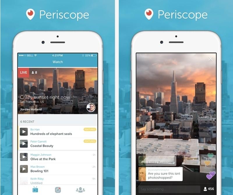 twitter periscope live video push notifications meerkat replays