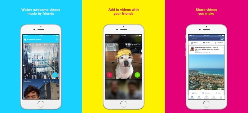 facebook riff app social network viral videos