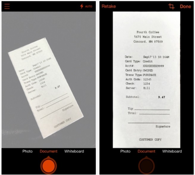 microsoft office lens iphone android mobile app scanner document scanning scanning