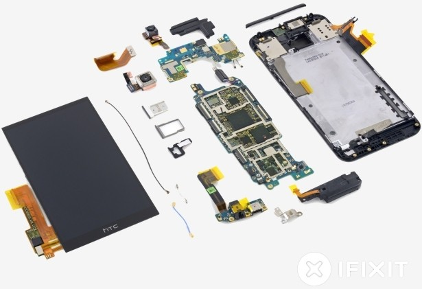 htc smartphone teardown ifixit warranty repairability replacement htc one m9 one m9 uh oh program