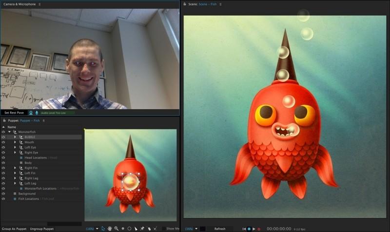 adobe character animator lets cartoons speak face tracking software adobe character animator cartoons adobe character animator