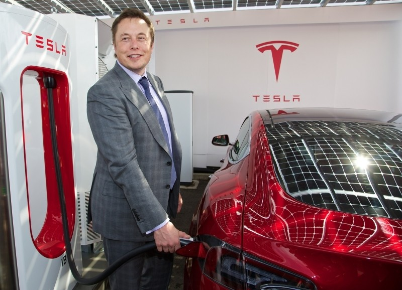 elon musk tesla google larry page acquisition electric car model s spacex