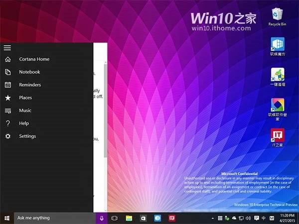 leaked windows live tiles build conference start menu screenshots ui windows 10 leaked screenshots 3d live tiles microsoft build