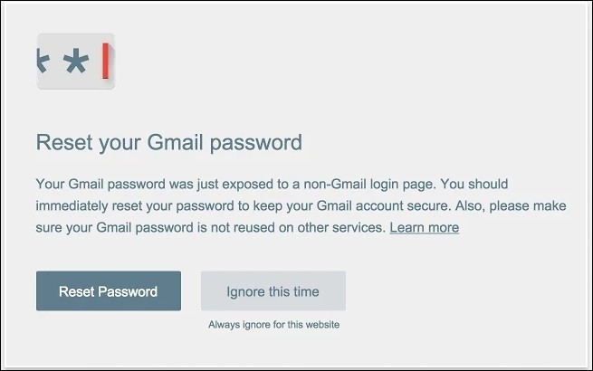 google chrome password browser it security extension password alert