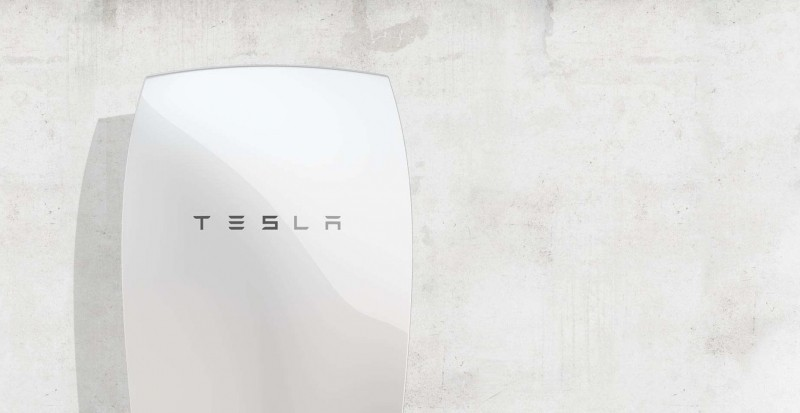 tesla powerwall battery pack in home battery