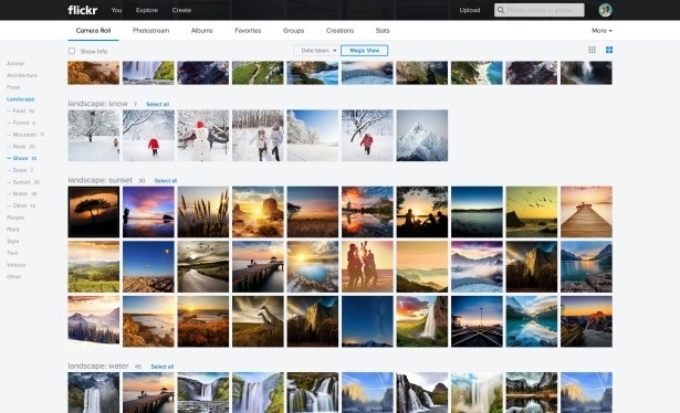 flickr yahoo photography pictures redesign images image search photographs magic view uploadr camera roll