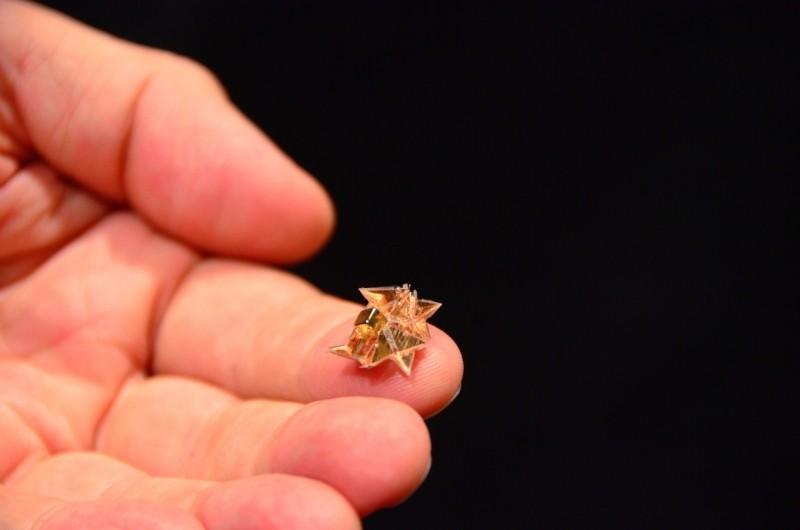 drone found self-destructing origami