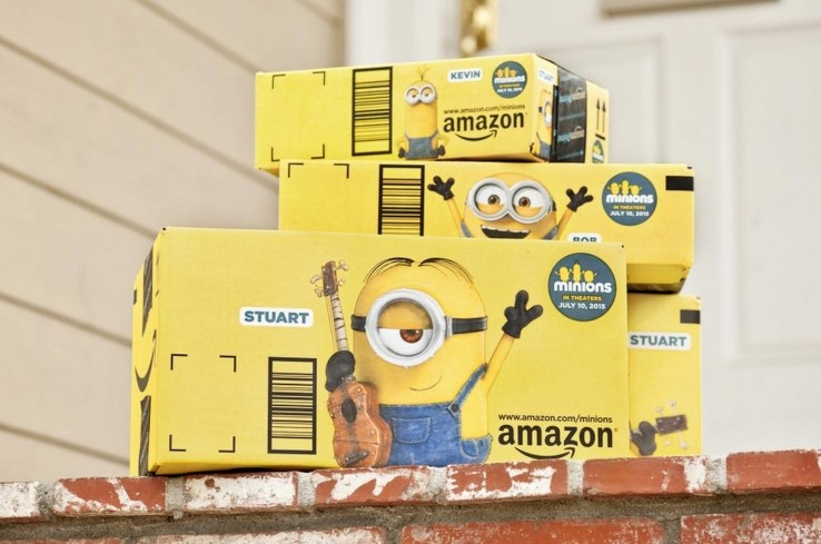 amazon changed iconic shipping boxes ads advertising minions box ads despicable me