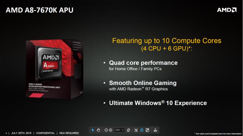 定位中低端 AMD新款APU A8-7670K正式发布的照片 - 1