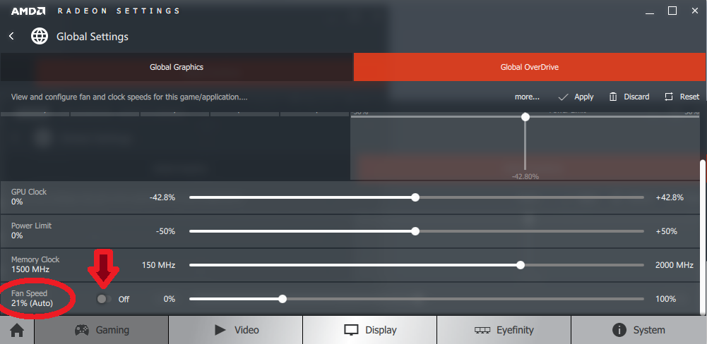 Amd overdrive enable manual fan control greyed out
