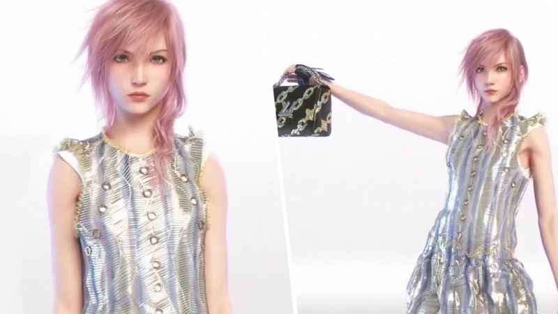 final fantasy, model, fashion, lightning, louis vuitton, nicolas ghesquiere