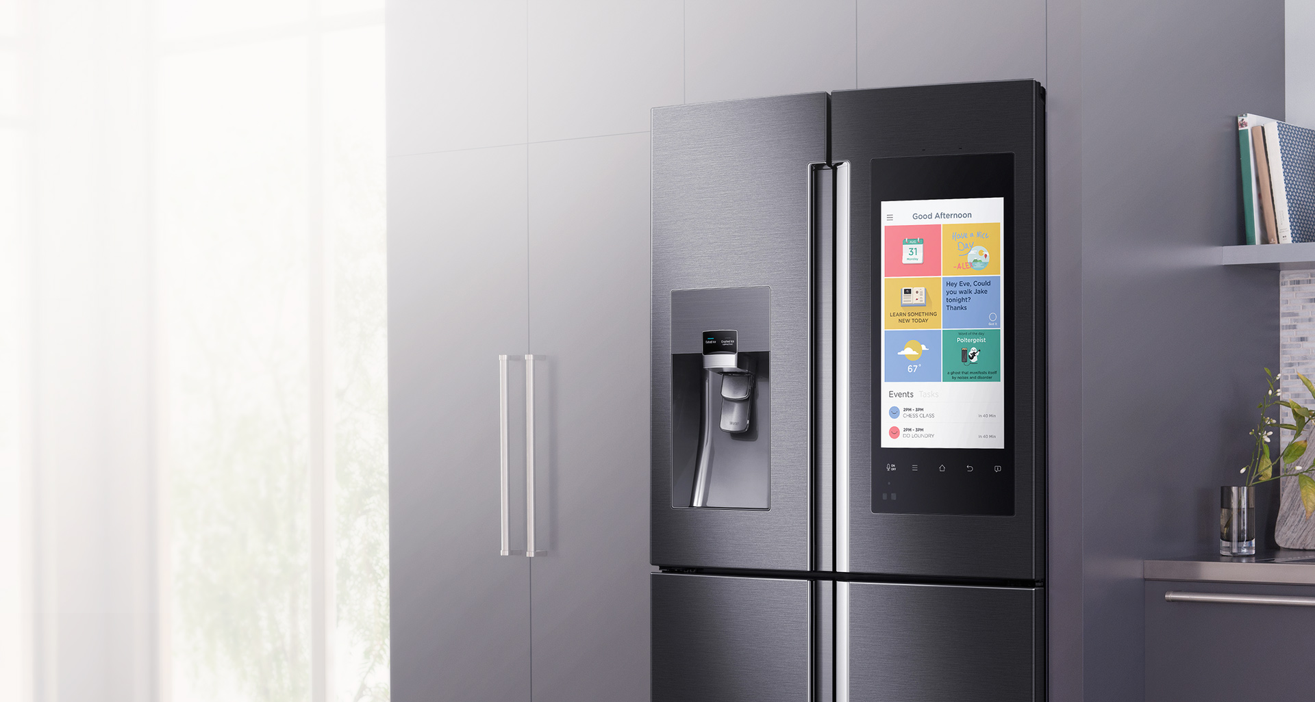 samsung, ces, alexa, ces 2016, smart fridge, connected device, family hub refridgerator