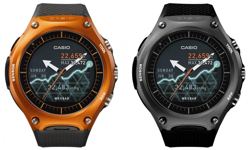 casio 39 s first ever smartwatch is like a g shock with. Black Bedroom Furniture Sets. Home Design Ideas