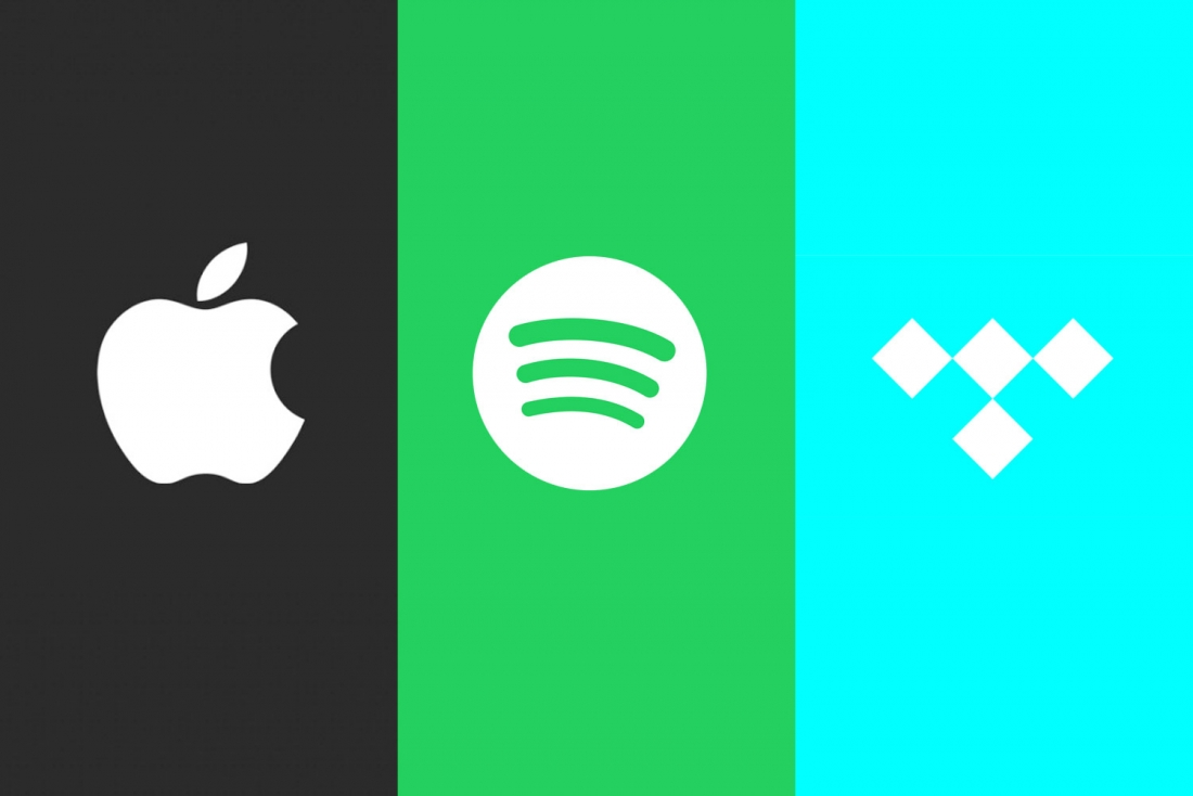 spotify, itunes, music, streaming, tidal, apple music