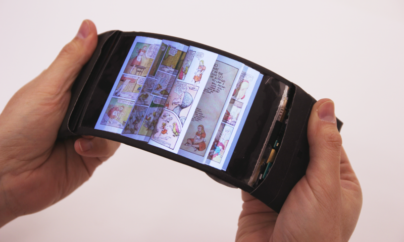 flexible display, reflex, lg display flexible oled, queens university, flexible technology
