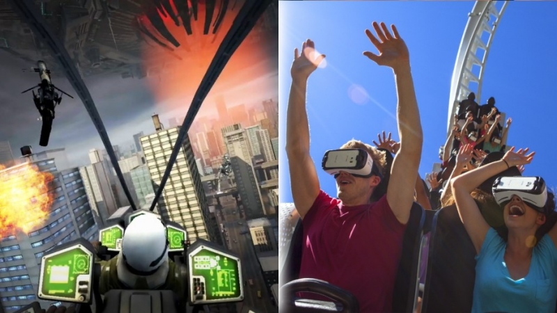 samsung, virtual reality, vr, gear vr, roller coaster, vr roller coaster, theme parks