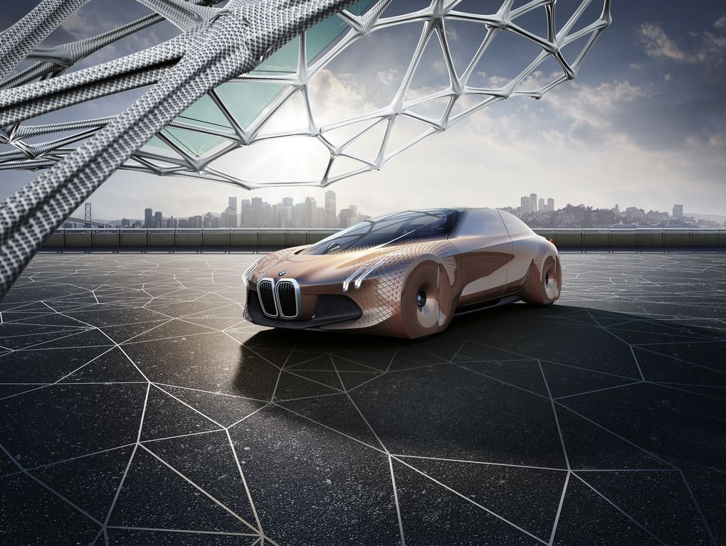 bmw, concept, augmented reality, autonomous car, self-driving car, concept car, vision next 100 vehicle