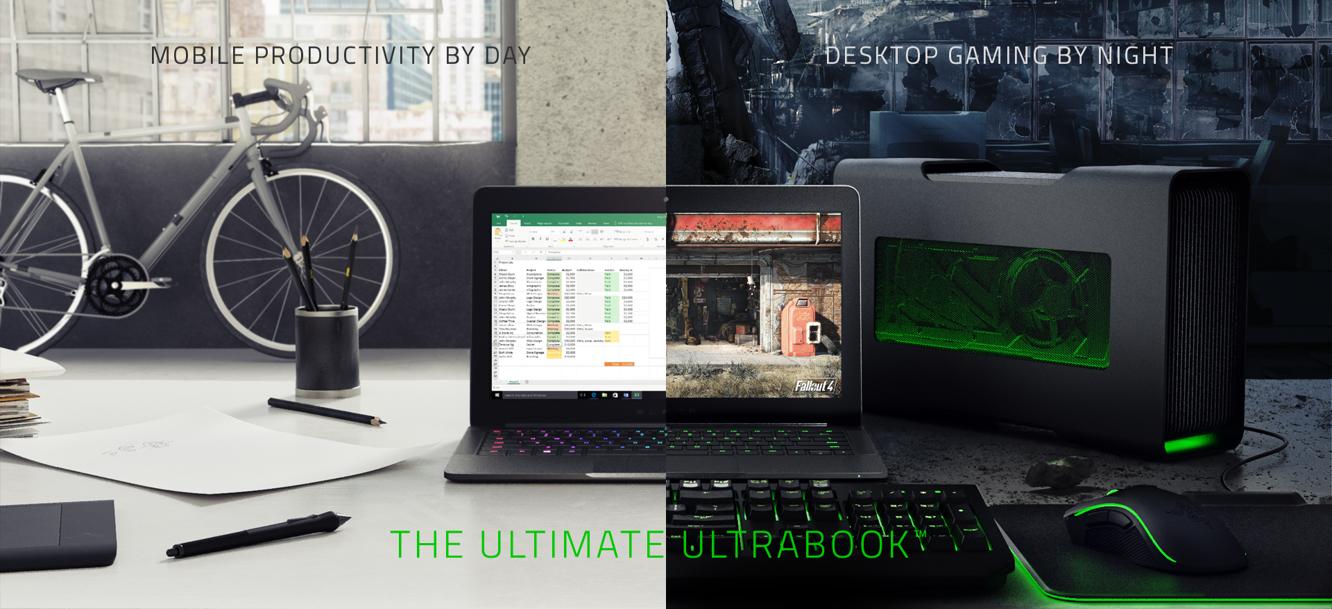 amd, radeon, razer, gpu, gaming, laptop, ultrabook, portable gaming, thunderbolt 3, amd xconnect, external graphics