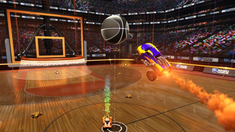 teaser, rocket league, psyonix, rocket league basketball, hoops