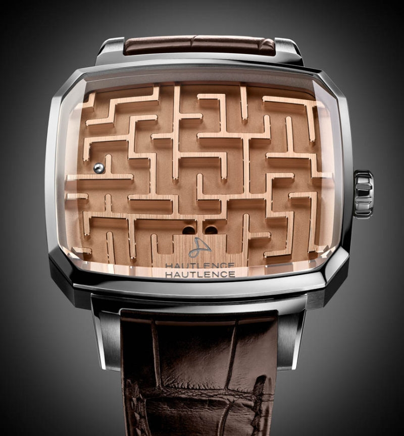 watch, hautlence, playground labyrinth, non-time keeping watch