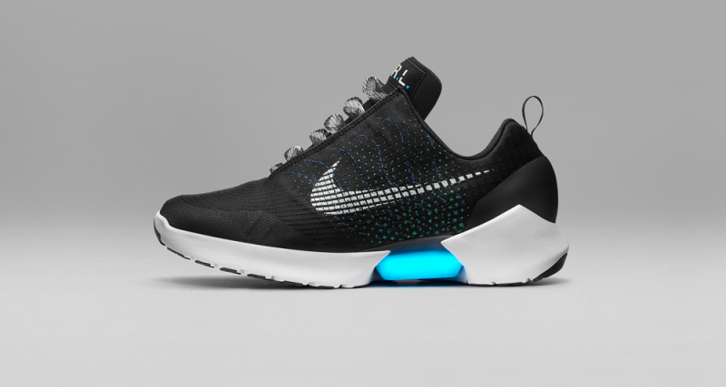 nike, self-lacing shoes