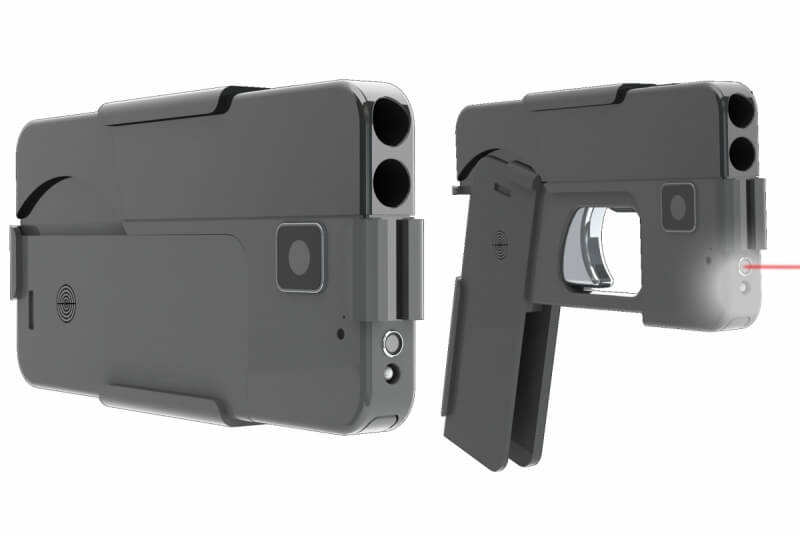 gun, handgun, weapons, smartphone gun, pistol disguised as smartphone, ideal conceal
