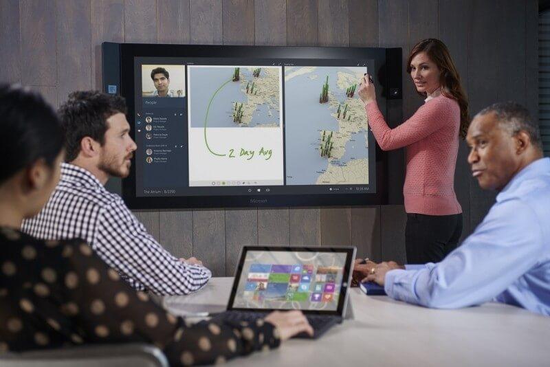 surface hub, enterprise market, office equipment, giant tablet