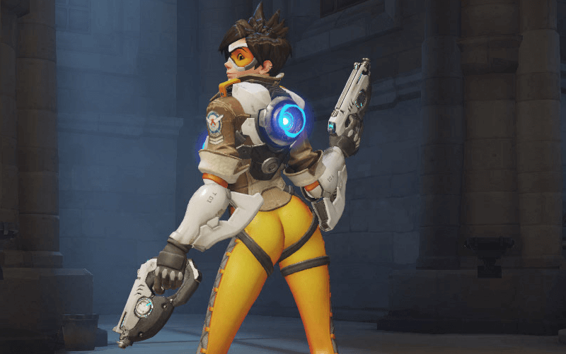 blizzard, forums, overwatch, women in gaming, tracer, sexy pose