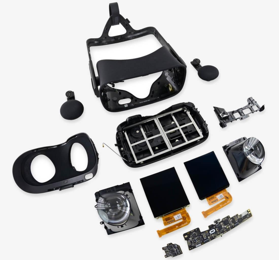rift, teardown, ifixit, virtual reality, vr, vr headset, oculus rift, repairability, oculus, repairability score, oculus vr