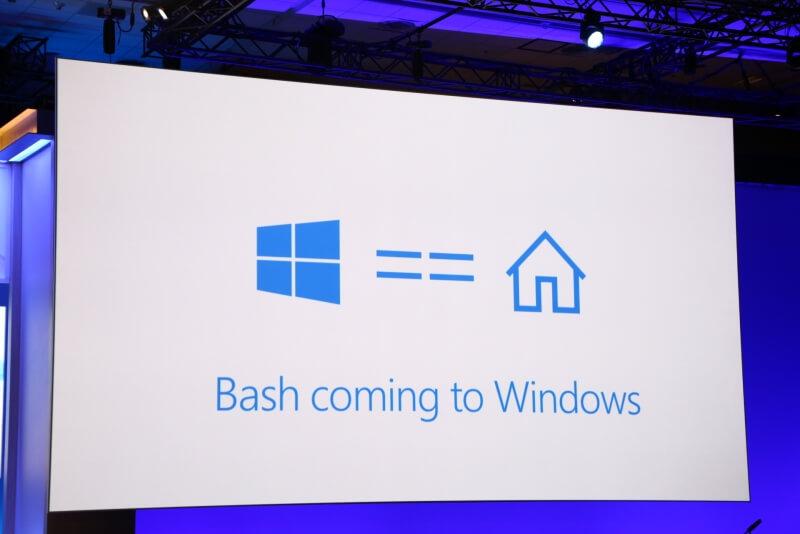 microsoft, windows, linux, command line, bash, windows 10
