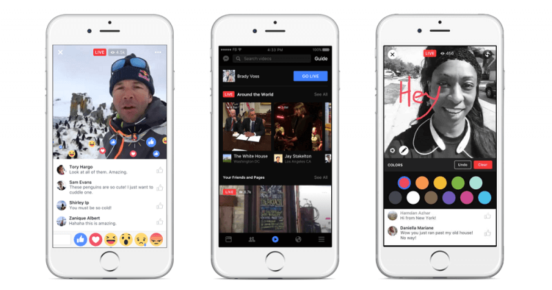 facebook, streaming, update, live video, facebook live