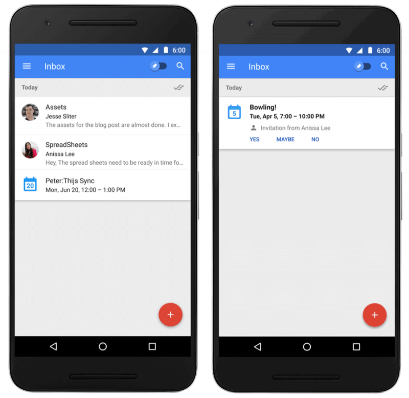 gmail, email, new features, events, email service, inbox by gmail, newsletters, links