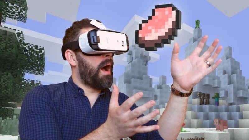 minecraft, virtual reality, oculus, minecraft vr, gear ve, minecraft gear vr edition