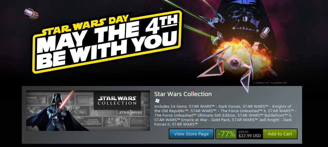 steam, star wars, gog, discount, pc gaming, gaming console, games