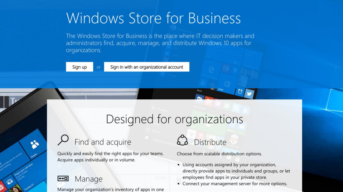enterprise, business, windows 10, windows store for business