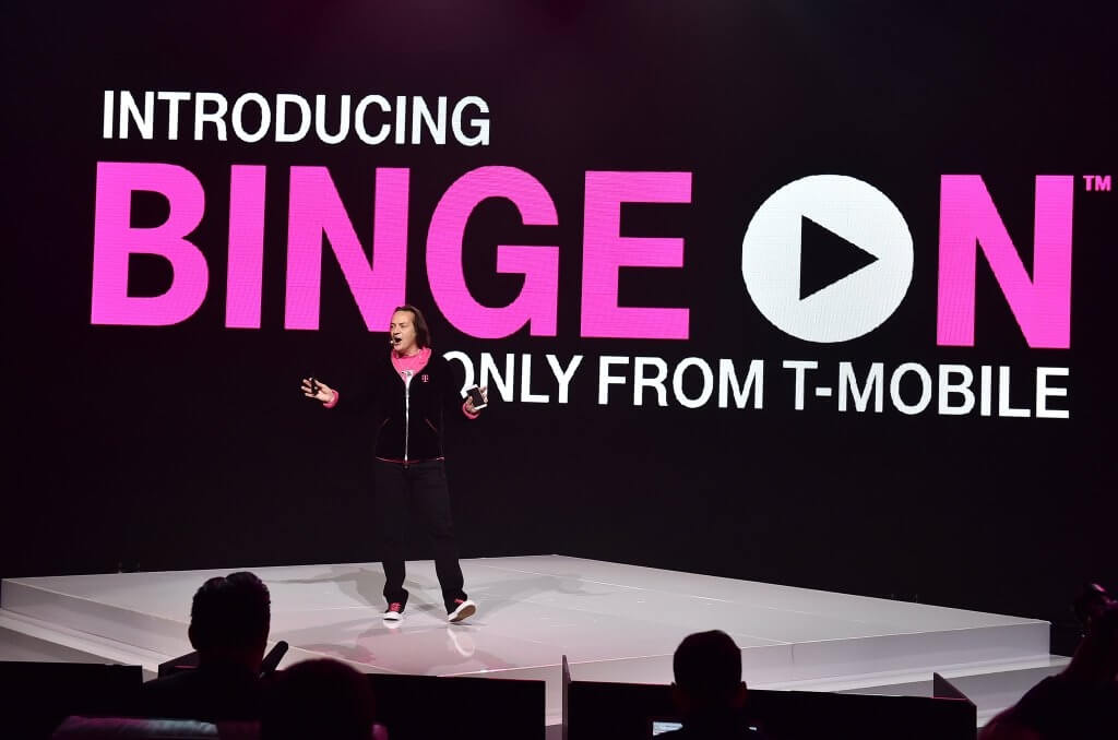 t-mobile, spotify, bandwidth, nbc, wireless provider, google play music, john legere, binge on