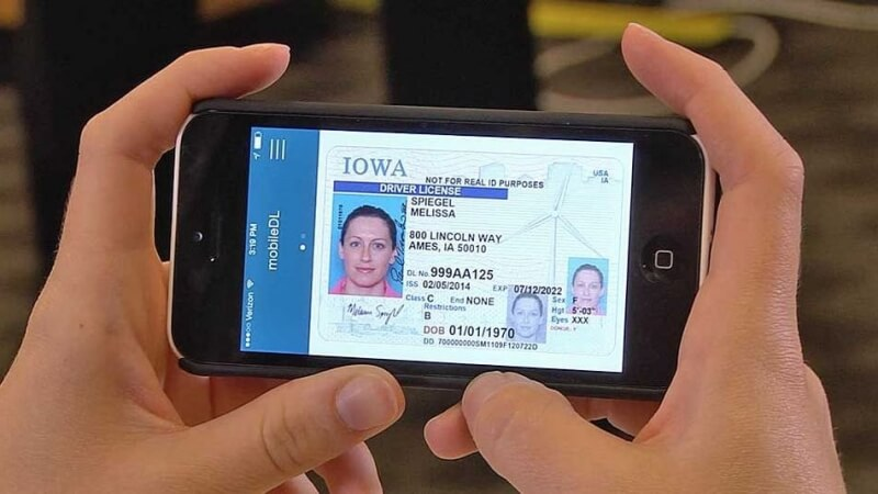delaware, uk, driving license, digital drivers license, digital documents, iowa