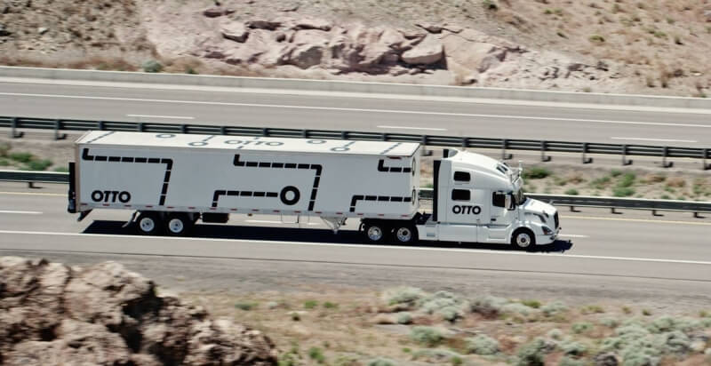 autonomous cars, self-driving trucks, otto, big rig, haulage, highways