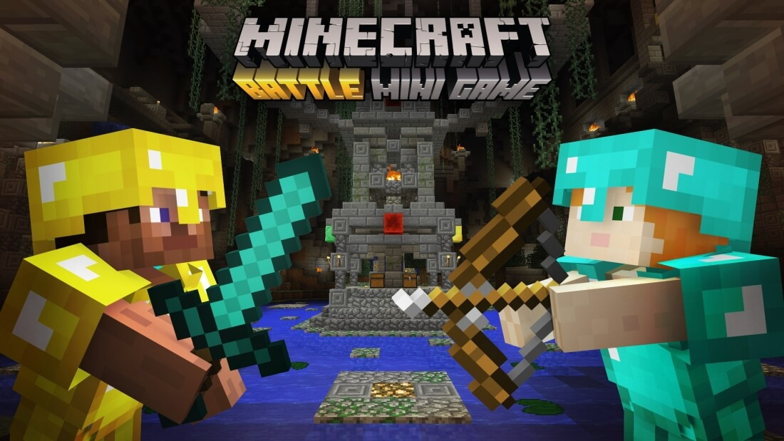 microsoft, minecraft, battle, pvp, multiplayer, gaming console, multiplayer mode