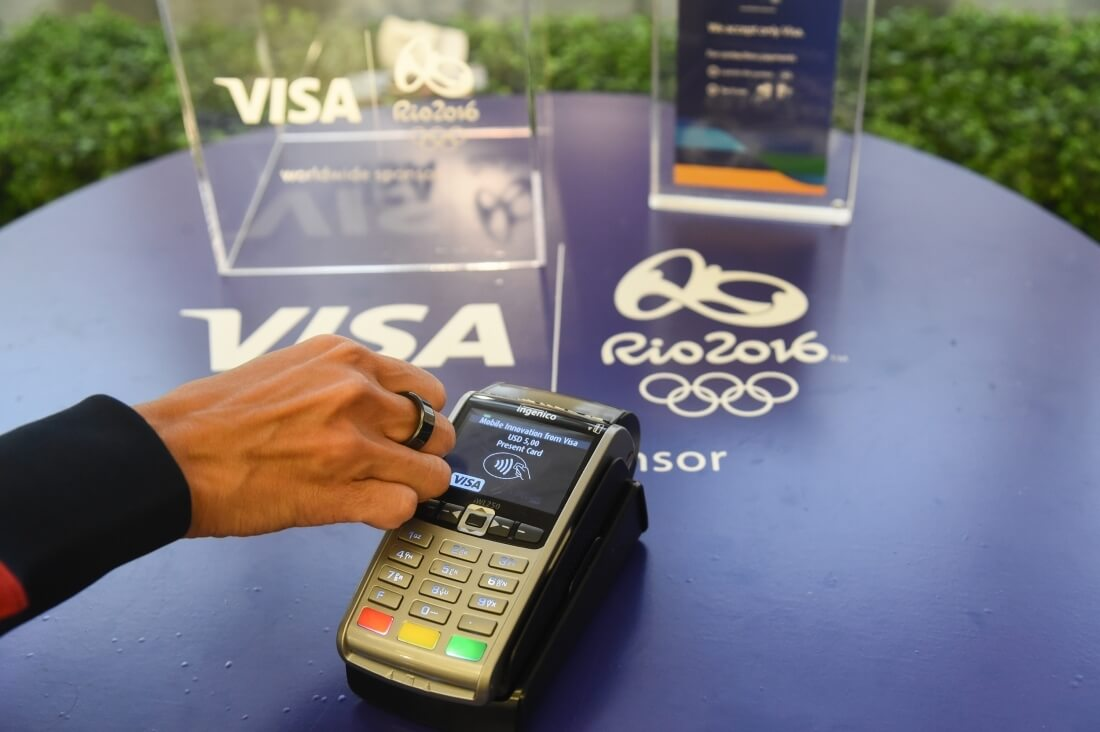 nfc, visa, olympics, ring, nfc payment, contactless payment, olympic games, rio games, wireless payment, payment ring, nfc ring