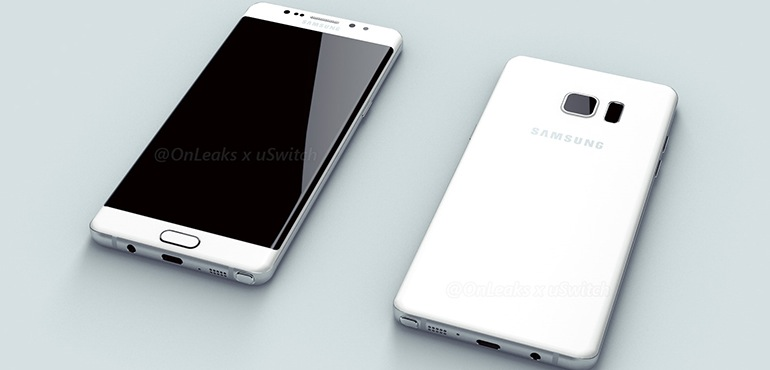 samsung, smartphone, leak, handset, phone, curved display, galaxy note edge, usb type-c, iris scanner, evan blass, galaxy note 6, galaxy note 7, curved edges