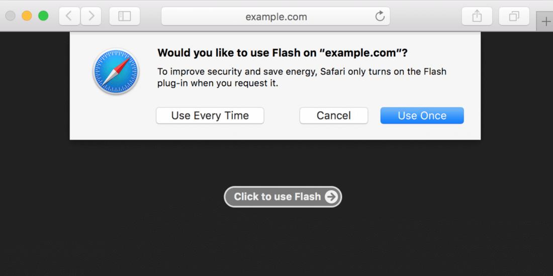 flash, html5, safari, macos, macos sierra