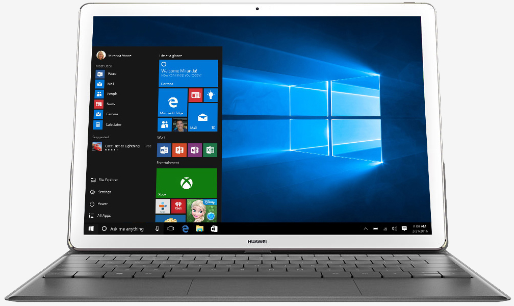 tablet, slate, huawei, microsoft surface, us, 2-in-1, huawei matebook