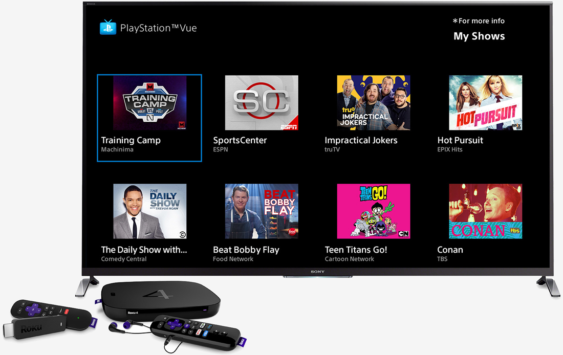 sony, android, roku, streaming, tv, internet tv, playstation vue