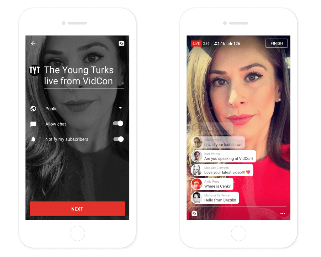 youtube, streaming, apps, livestream, periscope, facebook live