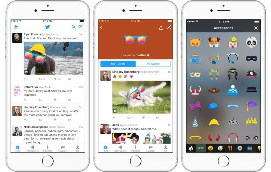 twitter, mwc, stickers, twitter app, twitter stickers, visual hashtags, sticker
