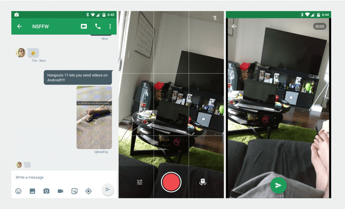 android, hangouts, video messaging