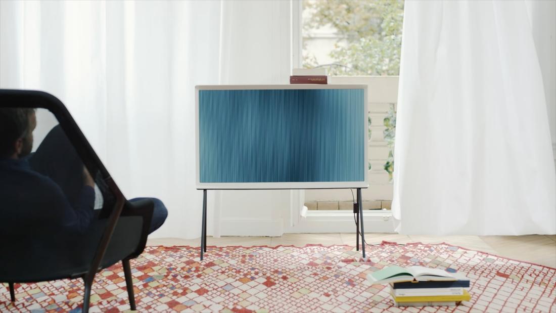 samsung, tv, television, design, pre-order, tv set, serif tv, furniture, serif, samsung serif tv, ronan, erwan bouroullec