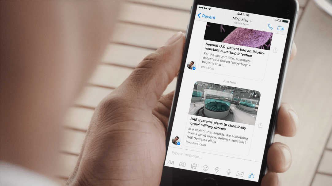 facebook, messenger, facebook messenger, instant articles