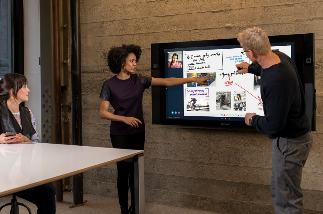 enterprise, sales, business, demand, surface hub, giant tablet, wall tablet, orders